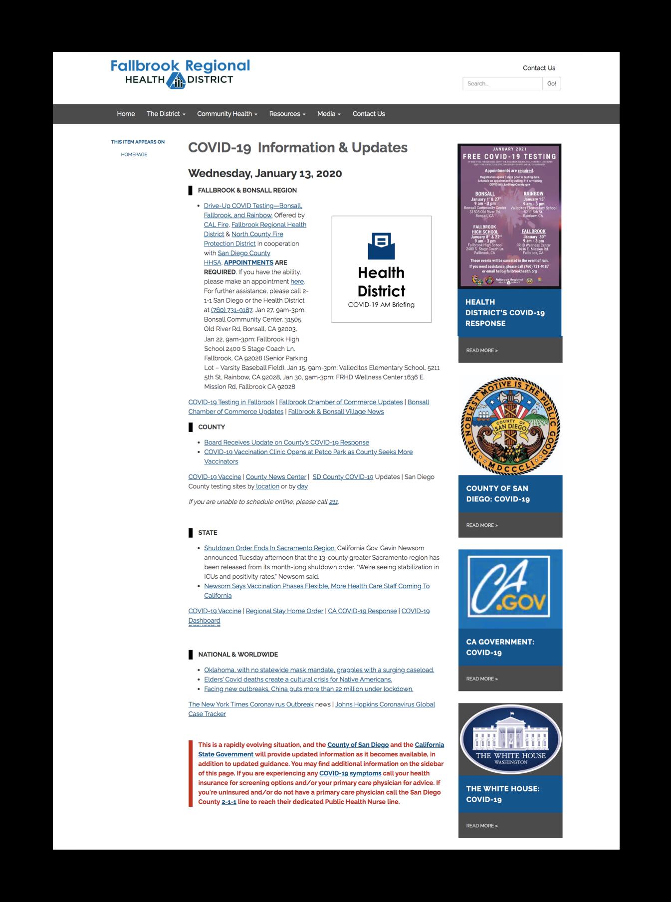 Fallbrook Website
