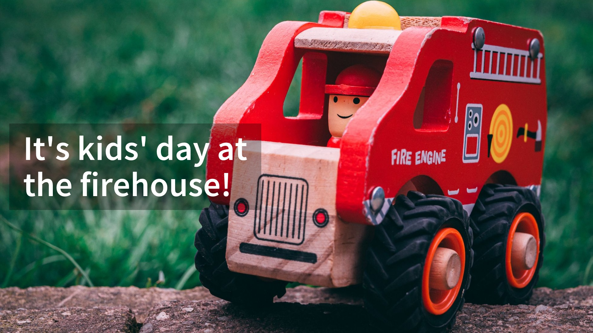Child's fire truck toy.