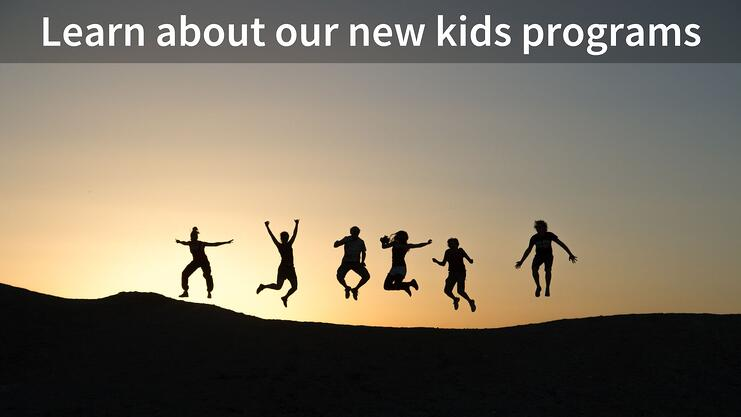 Kids jumping in the air